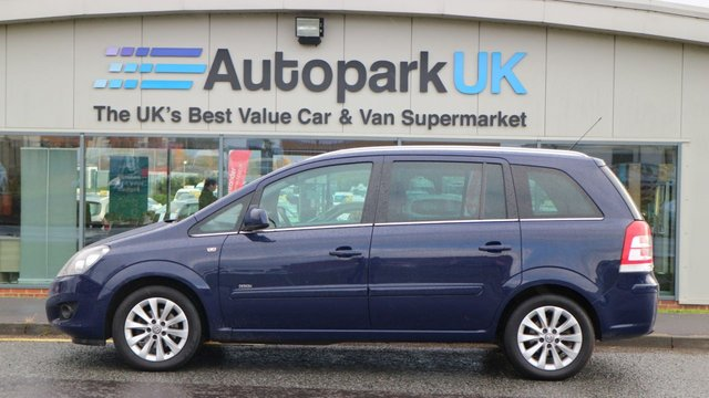 USED 2014 14 VAUXHALL ZAFIRA 1.8 DESIGN 5d 138 BHP LOW DEPOSIT OR NO DEPOSIT FINANCE AVAILABLE