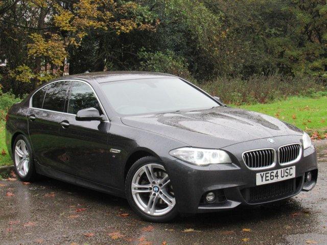 USED 2014 64 BMW 5 SERIES 2.0 520D M SPORT 4d AUTO 188 BHP FULL HEATED LEATHER INTERIOR, SAT NAV