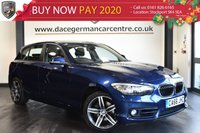 "USED 2016 66 BMW 1 SERIES 2.0 118D SPORT 5DR 147 BHP full service history  Finished in stunning mediterranean metallic blue styled with 17"" alloys. Upon entering the door you are presented with cloth upholstery, full service history, satellite navigation,bluetooth, cruise control, parking sensors, sport seats, dab radio, multi function steering wheel, fog lights, sport line, connected drive services and rain sensors"