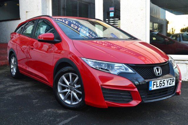 USED 2015 65 HONDA CIVIC 1.6 I-DTEC S NAVI TOURER 5d 118 BHP EXCELLENT  HONDA CIVIC DIESEL ESTATE WITH SAT NAV
