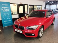 USED 2015 15 BMW 1 SERIES 1.5 116D SPORT 5d 114 BHP First of the new shape, ULEZ compliant and only £20 Tax!! This 116d Sport is finished in red with Black cloth seats, black and red trim dash. It is fitted with power steering, BMW Navigation, remote locking, electric windows and mirrors, climatic air conditioning, rear parking sensors, LED Daylights, auto lights and wipers, day lights, Bluetooth, Alloy wheels, DAB CD Stereo with USB & Aux port and more. It has had 2 owners from new and comes with a BMW service history consisting of three visits.