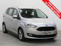 USED 2016 66 FORD GRAND C-MAX 1.5 ZETEC TDCI 5d AUTO 118 BHP Stunning Ford Grand C Max just had 1 Previous Owner, Full Service History and has MOT to the 11th August 2020. In addition this great 7 Seater comes with a fantastic specification including Front & Rear Parking Sensors, Winter Pack icl; Heated Seats and Heated Steering Wheel, Ford Sync, Bluetooth, Air Con, Leather Multi Functional Steering Wheel, Alloy Wheels and comes in Metallic Moondust Silver and with a Free Warranty. Euro 6, ULEZ Compliant, no charge.
