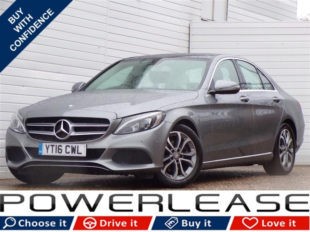 USED 2016 16 MERCEDES-BENZ C CLASS 2.1 C220 D SPORT PREMIUM 4d AUTO 170 BHP PANORAMIC SUNROOF REV CAMERA