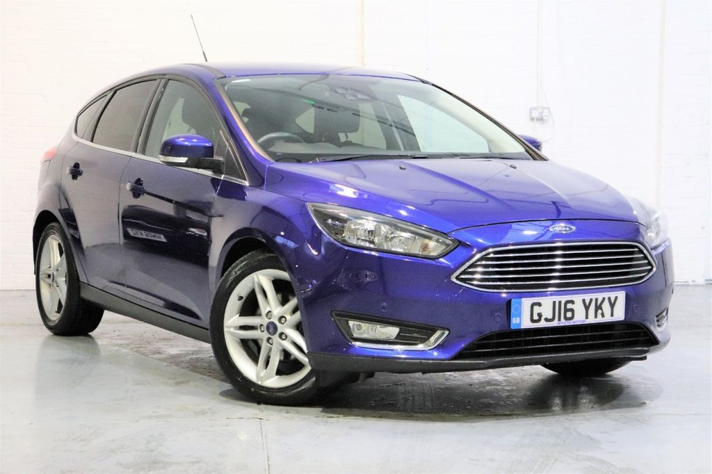 USED 2016 16 FORD FOCUS 1.5 TITANIUM TDCI 5d 118 BHP 1 Owner + Sat Nav + Parking sensors Front / Rear & Auto Parking + Cruise,