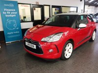 USED 2011 11 CITROEN DS3 1.6 DSTYLE 3d 120 BHP This 37700 miles DS3 is finished in red with white roof and wheels with Black cloth seats. It is fitted with power steering, Hi-Fi speaker upgrade,  remote locking, electric windows and mirrors, Air Conditioning, cruise control, LED Day lights, tinted rear windows, white alloy wheels, CD Stereo with Aux port and more. It has had three owners from new. It comes with service history to support the mileage. We will supply the car with a service, a new MOT, 6 months RAC warranty which is extendable