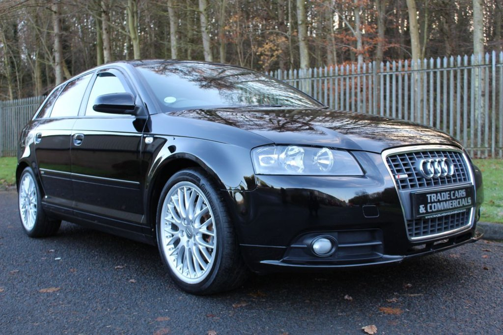 USED 2007 AUDI A3 2.0 TDi S line 5dr A WELL MAINTAINED CAR WITH SERVICE HISTORY AND FULL BLACK LEATHER!!!