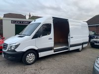 USED 2016 16 MERCEDES-BENZ SPRINTER 2.1 CDI 313 Extra High Roof Panel Van 4dr (LWB) FULL MERCEDES SERVICE HISTORY
