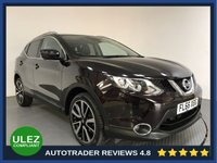 USED 2016 66 NISSAN QASHQAI 1.2 TEKNA DIG-T XTRONIC 5d AUTO 113 BHP FULL NISSAN HISTORY - 1 OWNER - SAT NAV - PAN ROOF - LEATHER - 360 CAMERAS - PARKING SENSORS - AIR CON - BLUETOOTH - DAB