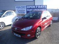 USED 2007 07 PEUGEOT 206 1.4 LOOK 3d 74 BHP *FINANCE ARRANGED*PART EXCHANGE WELCOME*18,000 MILES*2 KEYS*AIRCON*13 SERVICE STAMPS*PIONEER STEREO