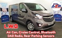 2016 VAUXHALL VIVARO 1.6 2900 SPORTIVE CDTI BITURBO S/S 125 BHP.  LONG WHEELBASE, Euro 6, Air Con, Cruise Control, Bluetooth, Fogs, Electric Pack and much more.... £11480.00