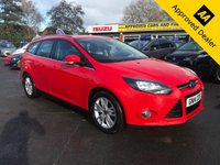 2014 FORD FOCUS 1.6 TITANIUM NAVIGATOR ESTATE  5d AUTO 124 BHP IN RED WITH ONLY 23000 MILES, FULL SERVICE HISTORY, 1 OWNER AND IS ULEZ COMPLIANT  £7999.00