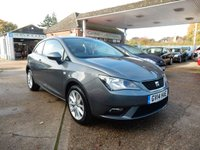 USED 2014 14 SEAT IBIZA 1.4 TOCA 3d 85 BHP SAT NAV,BLUETOOTH,12V SOCKET,SERVICE HISTORY,TWO KEYS,AIR CON