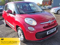USED 2013 13 FIAT 500L 1.4 POP STAR 5d 95 BHP 4 DEALERSHIP STAMPS 1 PDI 3 SERVICES. 2 PREVIOUS KEEPERS, 1 KEY & MANUAL PACK