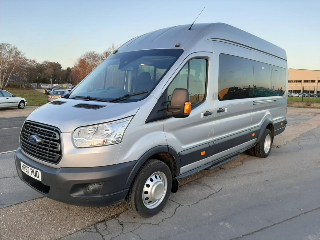 USED 2017 67 FORD TRANSIT MINIBUS 460 L4 H3 TREND 17-seats 125ps AC Tacho 17 Seater
