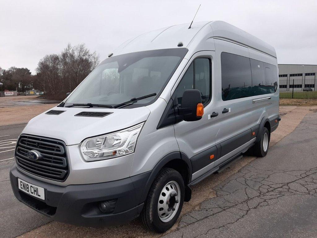 USED 2018 18 FORD TRANSIT MINIBUS 460 L4 H3 TREND 17-seats 125ps