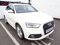 USED 2014 63 AUDI Q3 2.0 TDI QUATTRO S LINE 5d 138 BHP AWD 4X4 4WD All wheel drive S line Sought after car and colour climate control privacy glass parking sensors