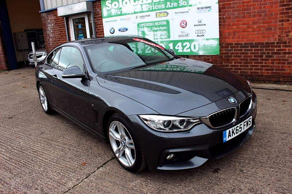 USED 2015 65 BMW 4 SERIES 2.0 425D M SPORT 2d AUTO 215 BHP +ONE OWNER +FSH +LEATHER +NAV.