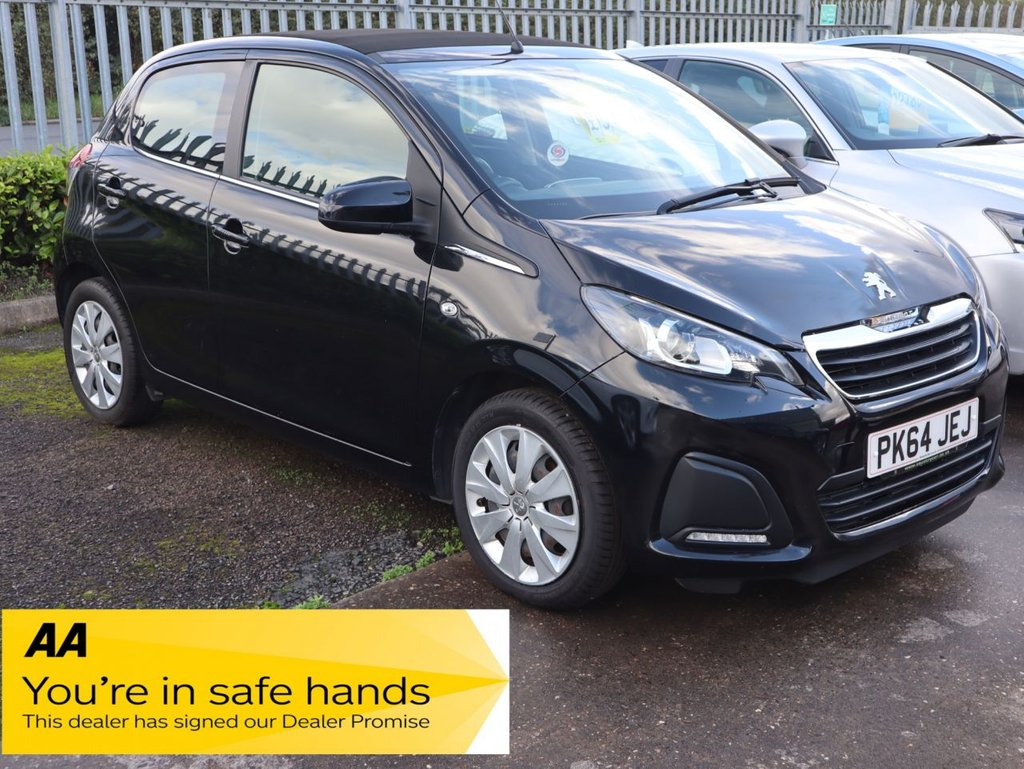 USED 2014 64 PEUGEOT 108 1.0 ACTIVE TOP 5d 68 BHP LOW MILEAGE 6 STAMPS 5 DEALERSHIP PLUS 1 OTHER