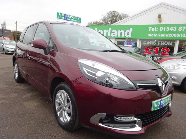 USED 2014 14 RENAULT SCENIC 1.5 DYNAMIQUE TOMTOM DCI EDC 5d 110 BHP **DEPOSIT DEALS AVAILABLE....TEST DRIVE TODAY CALL 01543 877320**