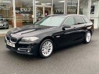 USED 2015 65 BMW 5 SERIES 2.0 518D LUXURY TOURING 5 DOOR SAT NAV HEATED LEATHER 148 BHP