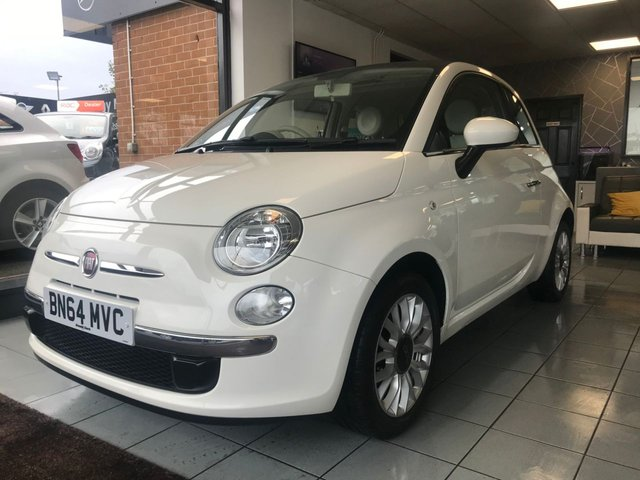 USED 2014 64 FIAT 500 1.2 LOUNGE DUALOGIC 3d 69 BHP **LOW MILEAGE SMALL AUTOMATIC**