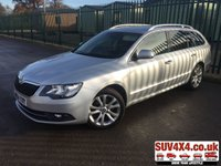 USED 2015 64 SKODA SUPERB 2.0 SE BUSINESS TDI CR 5d 138 BHP SAT NAV LEATHER PRIVACY SATELLITE NAVIGATION. STUNNING SILVER MET WITH BLACK PART LEATHER TRIM. CRUISE CONTROL. 17 INCH ALLOYS. COLOUR CODED TRIMS. PRIVACY GLASS. BLUETOOTH PREP. CLIMATE CONTROL. 6 SPEED MANUAL. R/CD PLAYER. MFSW. MOT 11/20. SERVICE HISTORY. SUV4X4 USED CAR CENTRE LS23 7FQ TEL 01937 849492 OPTION 2