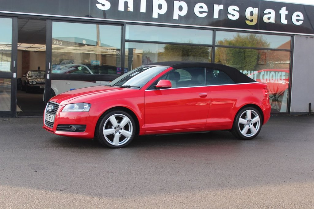 USED 2009 09 AUDI A3 2.0 TDI SPORT 2d 138 BHP Huge Specification Brilliant Red Audi Convertible, Vienna Leather Interior, Bluetooth Phone Prep, BOSE Music, Symphony Radio, Rear Parking Sensors, Electric Folding and Heated Door Mirrors, Multi Function Sprts Steering Wheel, Service History - Just Serviced.