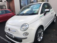 USED 2010 10 FIAT 500 1.2 POP 3d 69 BHP 8 SERVICE STAMPS: