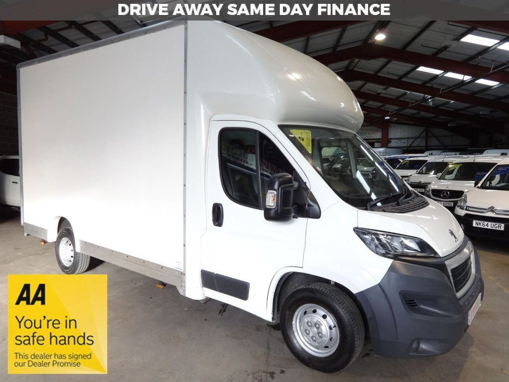 USED 2017 17 PEUGEOT BOXER 2.0 BLUE HDI 335 L3 F/C 130 BHP LOW LOADER PLATFORM CAB LUTON VAN - AA DEALER PROMISE - TRADING STANDARDS APPROVED -
