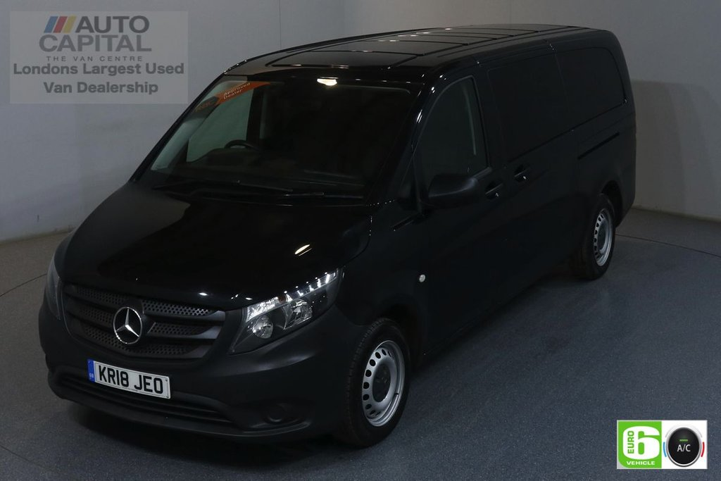 USED 2018 18 MERCEDES-BENZ VITO 2.1 114 BLUETEC TOURER PRO 136 BHP XLWB 9 SEATS MINIBUS 9 LEATHER SEATS, AIR CON, EURO 6 ENGINE, REVERSE CAMERA, ALLOY WHEELS
