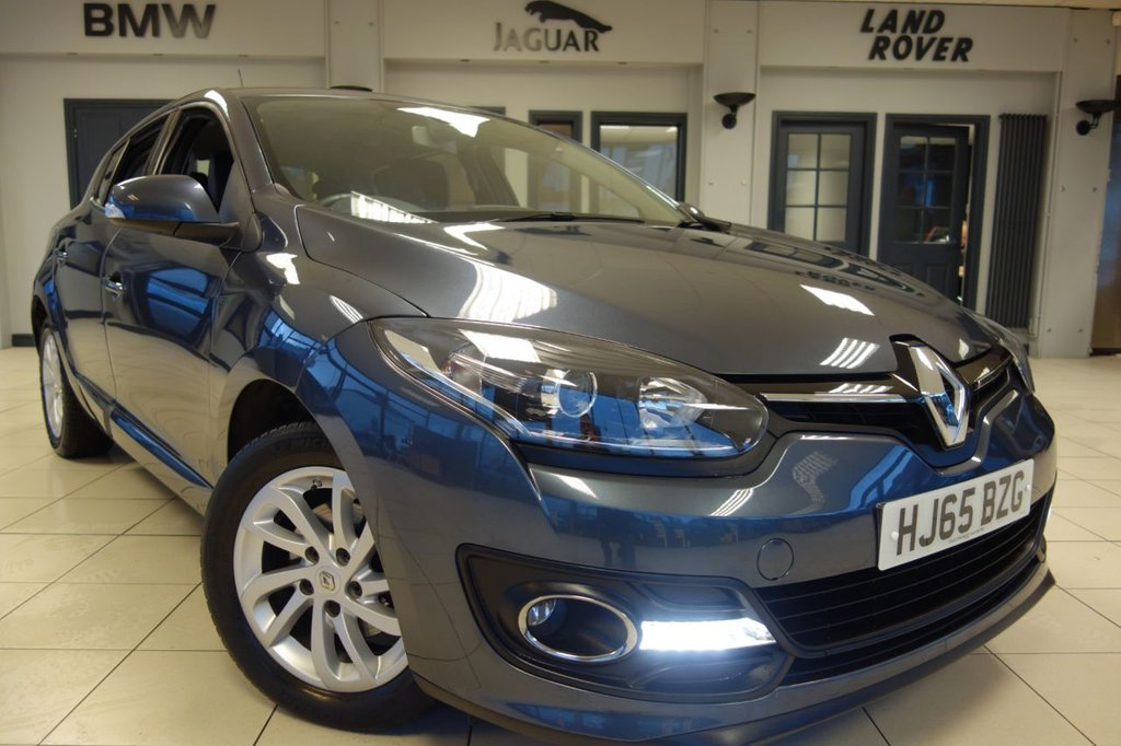 USED 2015 65 RENAULT MEGANE 1.5 DYNAMIQUE NAV DCI 5d 110 BHP FINNISHED IN STUNNING METALLIC STEEL GREY WITH HALF BLACK LEATHER SEATS + SATELLITE NAVIGATION + DUAL ZONE AIR CONDITIONING + CLIMATE CONTROL + BLUETOOTH + IN CAR ENTERTAINMENT AUX-USB-CD + CRUISE CONTROL + MULTI FUNCTION STEERING WHEEL + PARKING SENSORS + XENON HEADLIGHTS + REMOVABLE TOWBAR....  At Dace Specialist Car Centre, we are very proud to be named the first Stockport Trading Standards Approved Car Retailer, with process and procedures developed with and applauded by them. At each of our