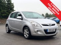 USED 2011 11 HYUNDAI I20 1.4 CRDI BLUE 5d 89 BHP Great running and stunningly looked after Hyundai 120 1.4 CRDI Blue 5dr having just had 2 Previous Owners, comes with Full Service History with 11 service stamps in the book and an MOT to 7th August 2020. In addition this lovely car comes with Electric Front & Rear Windows, Electrically Folding Wing Mirrors, Air Conditioning, Radio/CD, USB/AUX, 6 Speed Gearbox, Multi Functional Steering Wheel, comes in Metallic Silver. £0 Road Fund Licence.