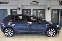 USED 2016 16 VOLKSWAGEN GOLF 1.4 GTE 5d 150 BHP FINISHED IN STUNNING METALLIC BLUE WITH GTI CHECK HEATED SEATS + FULL VOLKSWAGEN SERVICE HISTORY + DUAL ZONE AIR CONDITIONING + PRIVACY GLASS + FRONT/REAR PARKING SENSORS + BLUETOOTH PHONE AND BLUETOOTH MEDIA + SELECTABLE DRIVING MODES + CRUISE CONTROL + DAB DIGITAL RADIO + XENON HEAD LIGHTS + LED DAYTIME RUNNING LIGHTS + STUNNING DIAMOND CUT TWO TONE ALLOY WHEELS + CHARGING CABLES