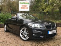 USED 2016 16 BMW 2 SERIES 2.0 220D M SPORT 2dr Sat Nav, Leather, Xenons