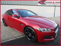 USED 2017 17 JAGUAR XE 2.0 D R-SPORT 4dr 180 BHP RED AND BLACK LEATHER, BLACK STYLING PACK, P/GLASS
