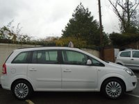 USED 2012 62 VAUXHALL ZAFIRA 1.6 EXCLUSIV 5d 113 BHP GUARANTEED TO BEAT ANY 'WE BUY ANY CAR' VALUATION ON YOUR PART EXCHANGE