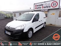 USED 2016 66 CITROEN BERLINGO PANEL VAN 1.6 625 LX L1 HDI 74 BHP GOOD AND BAD CREDIT SPECIALISTS! APPLY TODAY!