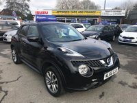 USED 2016 66 NISSAN JUKE 1.5 TEKNA DCI 5d 110 BHP IN METALLIC BLACK WITH ONLY 41000 MILES, FULL SERVICE HISTORYAND A GREAT SPEC INCLUDING LEATHER AND SAT NAV Approved Cars are pleased to offer this stunning metallic black Nissan Juke Tekna 1.5 diesel. This car is in immaculate condition and has been extremely well looked after and maintained with a full service history. This ideal family car comes with full black leather, sat  nav, sports and eco driving modes, manual gearbox, cruise control, bluetooth and much much more. for more information or to book a test drive please call our sales team on 01622 871555.