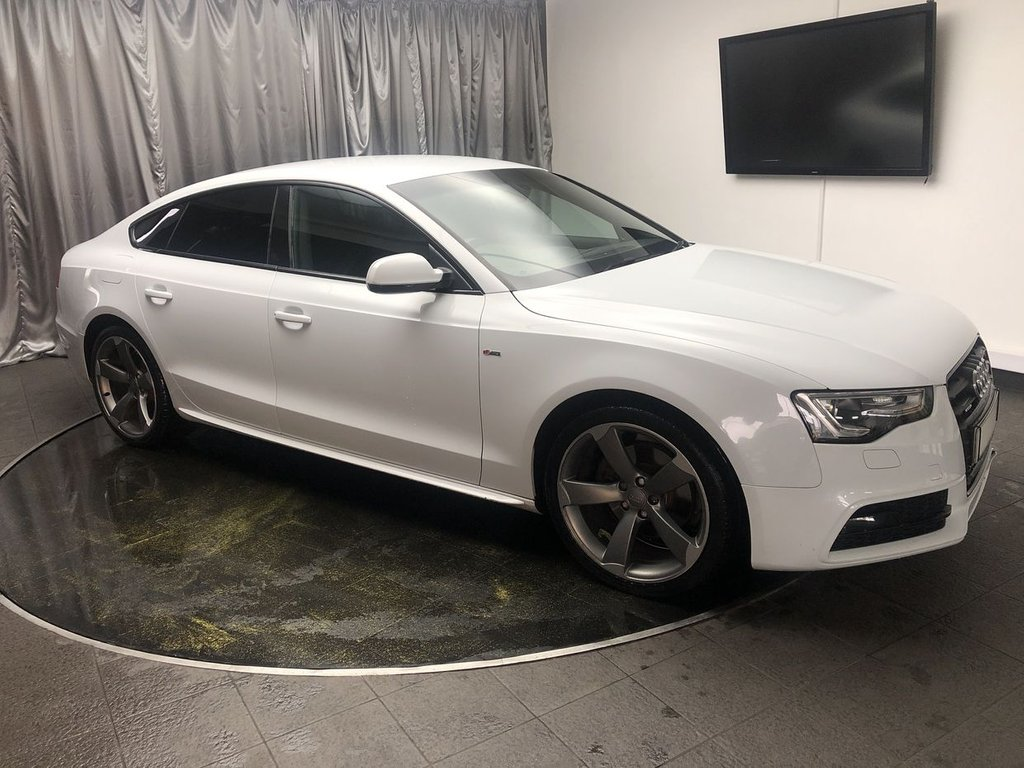 USED 2013 63 AUDI A5 2.0 SPORTBACK TDI QUATTRO BLACK ED S/S 5d 175 BHP FREE UK DELIVERY, AUTOMATIC HEADLIGHTS, BANG & OLFUSEN SOUND SYSTEM, CLIMATE CONTROL, DAB RADIO, ELECTRONIC PARKING BRAKE, HEATED SEATS, REAR PARKING SENSORS, STEERING WHEEL CONTROLS, TRIP COMPUTER