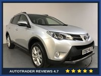 USED 2013 J TOYOTA RAV4 2.2 D-4D INVINCIBLE 5d 150 BHP FULL TOYOTA HISTORY - REAR SENSORS - CAMERA - LEATHER - AIR CON - BLUETOOTH - DAB - CRUISE - PRIVACY