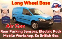 2013 VOLKSWAGEN CADDY MAXI 1.6 C20 TDI 101 BHP LONG WHEEL BASE in Blue with Air Conditioning, Rear Parking Sensors, Mobile Workshop, Electric Windows & Mirrors, Twin Sliding Doors and more £6280.00