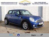 2011 MINI HATCH ONE 1.6 ONE 3d AUTO 98 BHP £4450.00