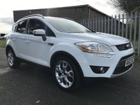 USED 2012 62 FORD KUGA 2.0 TITANIUM X TDCI 5d 163ps WHITE PANROOF HEATED SEATS LEATHER