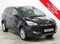 USED 2016 16 FORD KUGA 2.0 TITANIUM NAVIGATION TDCI 5d 177 BHP 4x4 Stunning Ford Kuga 2.0 Auto Titanium Navigation 4x4 AUTO, has just had 1 Previous Owner, comes with Full Ford Service History and an MOT to 21st June 2020. Comes with a great specification including SAT NAV, Half Leather, Parking Sensors, Heated Front and Rear Windscreen, Ford Sync, Cruise Control, Bluetooth, Air Conditioning, Leather Multi-Functional Steering Wheel, 2 Keys and comes in Metallic panther Black, Nationwide Delivery Available. Finance Available at 9.9% APR Representative.