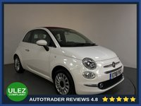 USED 2016 16 FIAT 500 1.2 C LOUNGE DUALOGIC 3d 69 BHP FULL FIAT HISTORY - 1 OWNER - REAR SENSORS - AIR CON - BLUETOOTH - PRIVACY - AUX / USB - TOUCH SCREEN