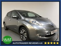 USED 2016 16 NISSAN LEAF 0.0 TEKNA 5d 109 BHP FULL NISSAN HISTORY - 1 OWNER - 360 CAMERAS - PARKING SENSORS - LEATHER - AIR CON -BLUETOOTH - DAB - PRIVACY