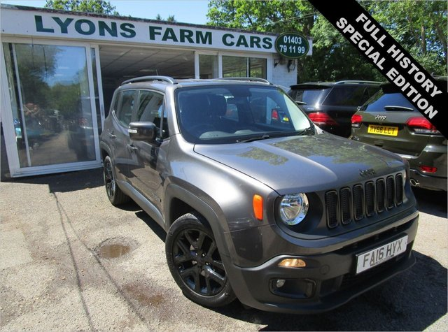 USED 2016 16 JEEP RENEGADE 1.6 M-JET DAWN OF JUSTICE 5d 118 BHP *SPECIAL EDITION* Full Service History, One Previous Owner, MOT until January 2022, Excellent fuel economy! Only £30 Road Tax!