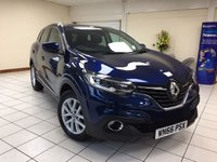 """USED 2016 66 RENAULT KADJAR 1.2 DYNAMIQUE NAV TCE 5d 130 BHP ONE OWNER / SERVICE HISTORY / MULTIPLE AIRBAGS / ISOFIX / 7"""" MEDIA SYSTEM WITH DAB / SATNAV / BLUETOOTH PHONE CONNECTIVITY"""