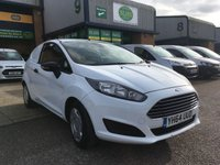 USED 2014 64 FORD FIESTA 1.6 ECONETIC TDCI 94 BHP ONLY 36,000 MILES WITH AIR CON, P/SENSORS, FINANCE ARRANGED & 6 MONTHS WARRANTY. Full engine service carried out with new front discs and pads fitted @ 36,385 on 14.11.2019, A/C, E/W, Radio, parking sensors, Drivers airbag, Factory fitted bulk head, colour coded, load liner, Very Good Condition, 1 Owner, remote Central Locking, Drivers Airbag, tailgate, finance arranged on site & 6 months premium Autoguard warranty