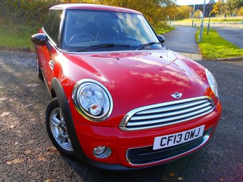 2013 MINI HATCH ONE 1.6 ONE D 3d 90 BHP ** DIESEL, 6 SPEED,  74 MPG, ONE PREVIOUS OWNER, YES ONLY 58,709 MILES FROM NEW , £ZERO ROAD TAX, AIRCON, ALLOYS, SUPERB THROUGHOUT ** £5295.00